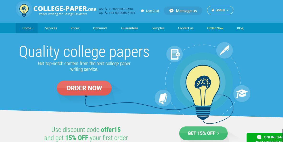 college paper header